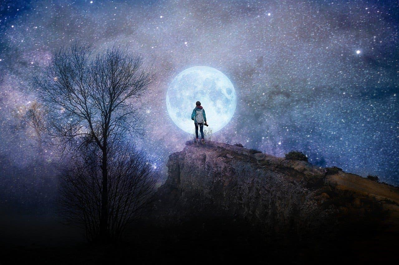 夜空 満月 綺麗